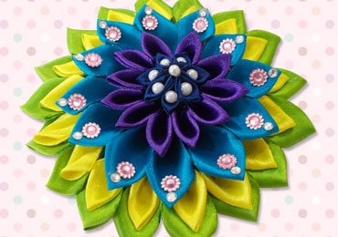 Beautiful Satin Ribbon Flower DIY Hair Accessories