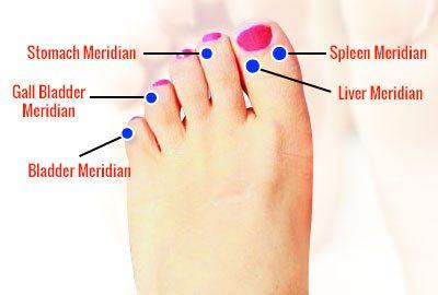Foot Meridian Chart