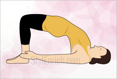Bridge pose exercise