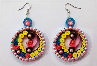 Diy paper earrings crafts