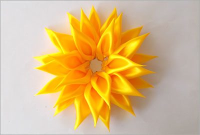 Easy diy satin sunflower