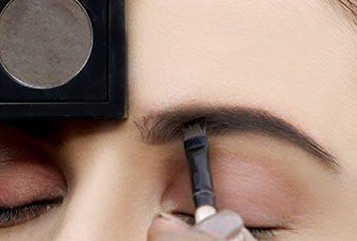 Fill eyebrows with eyeshadow & brow shadow