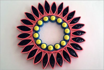 Quilling wall hanging diy