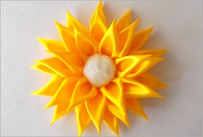 Satin sunflower diy craft