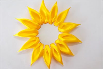 Satin sunflower diy