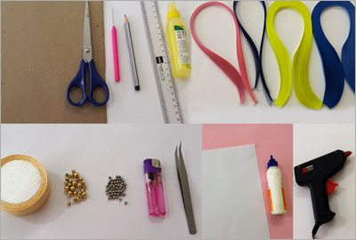 Things need for quilling wall hanging