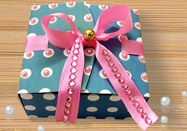 Paper Gift Box using Free Template