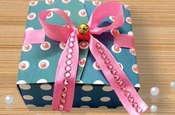 Paper Gift Box DIY Craft Using Free Template