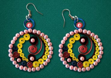 How to Make Easy Paper Quilling Earrings?