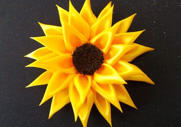 How to Make Satin Ribbon Sunflower Accessories for Girls?