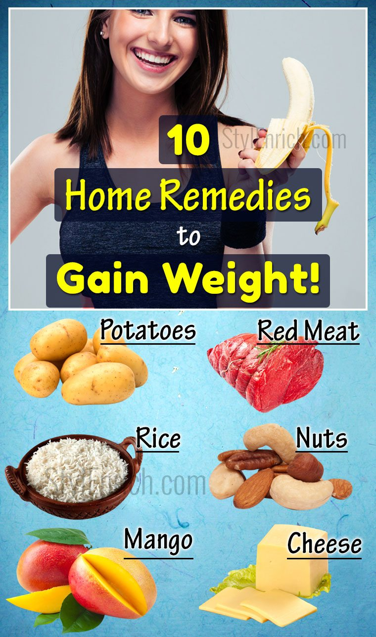 Home remedies to gain weight