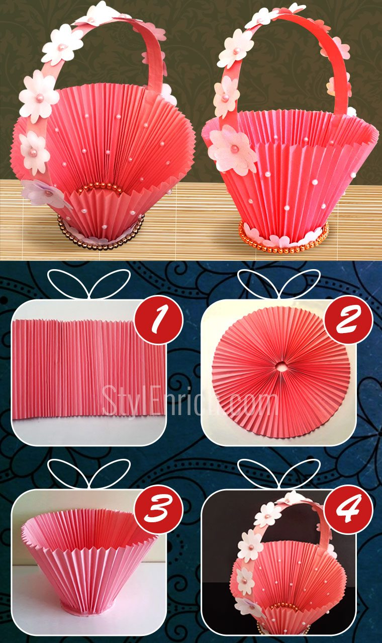Accordion DIY Paper Basket