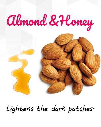 Almond and Honey to Remove Uneven Patches
