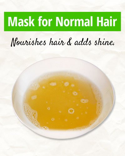 Homemade Mask for Normal Hair