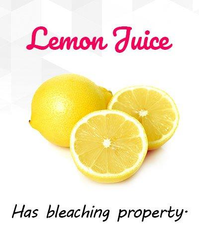 Lemon Juice to Remove Uneven Patches
