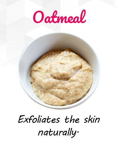 Oatmeal to Remove Uneven Patches
