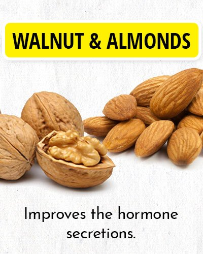 Walnut & Almonds to Balance Hormone