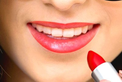 Apply lipstick directly from the tube