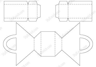 FREE Download : Stencil Template of DIY Paper Basket Craft
