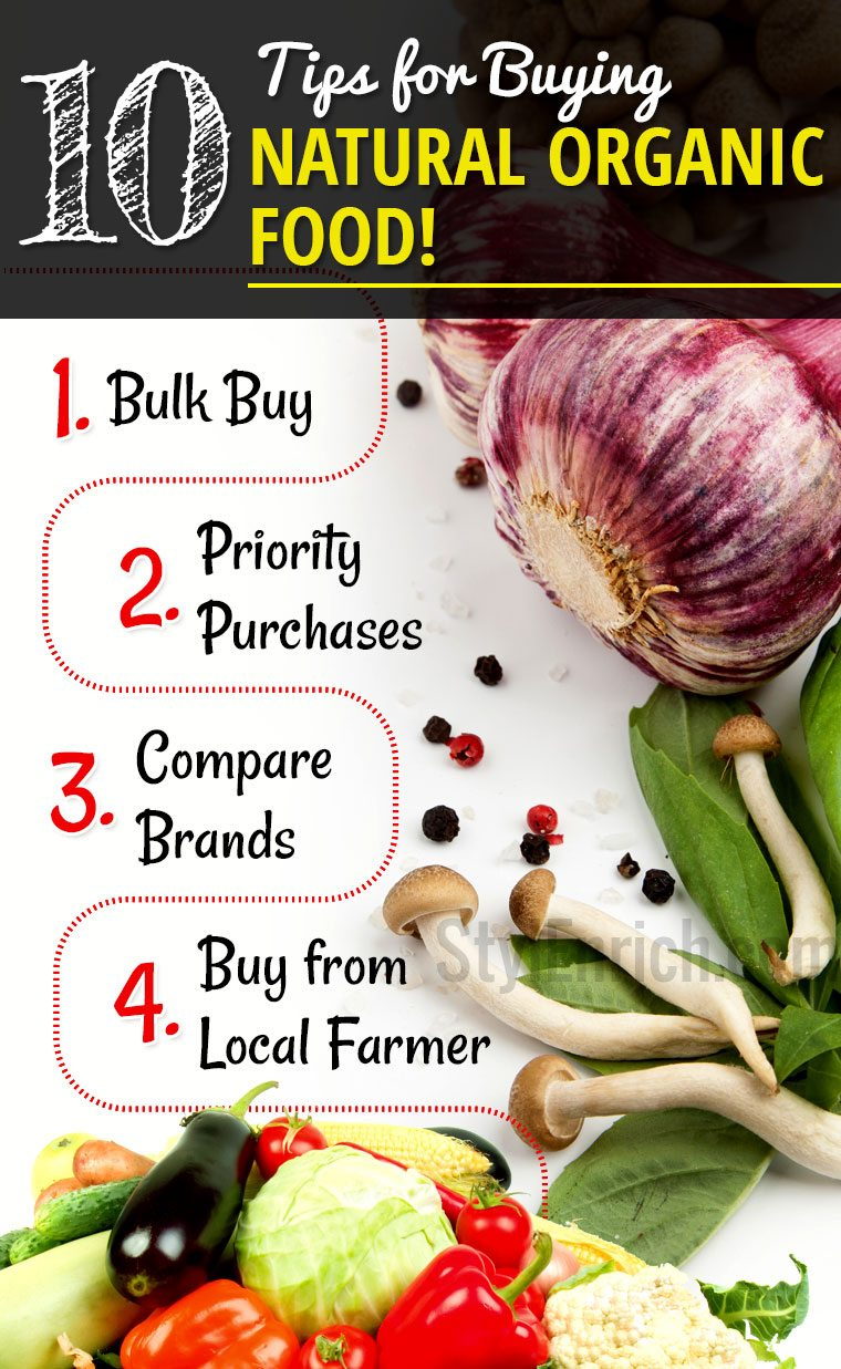 Tips for buying natural organic food