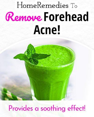 Coriander Juice to Remove Forehead Acne