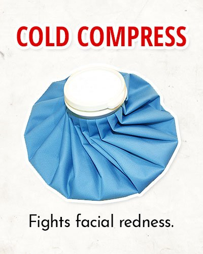 Ice Cold Compress Trick to Overcome Facial Redness
