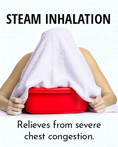 Steam Inhalation for Chest Congestion