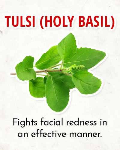 Tulsi Water to Overcome Facial Redness