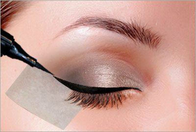 Extend eyeliner using tape