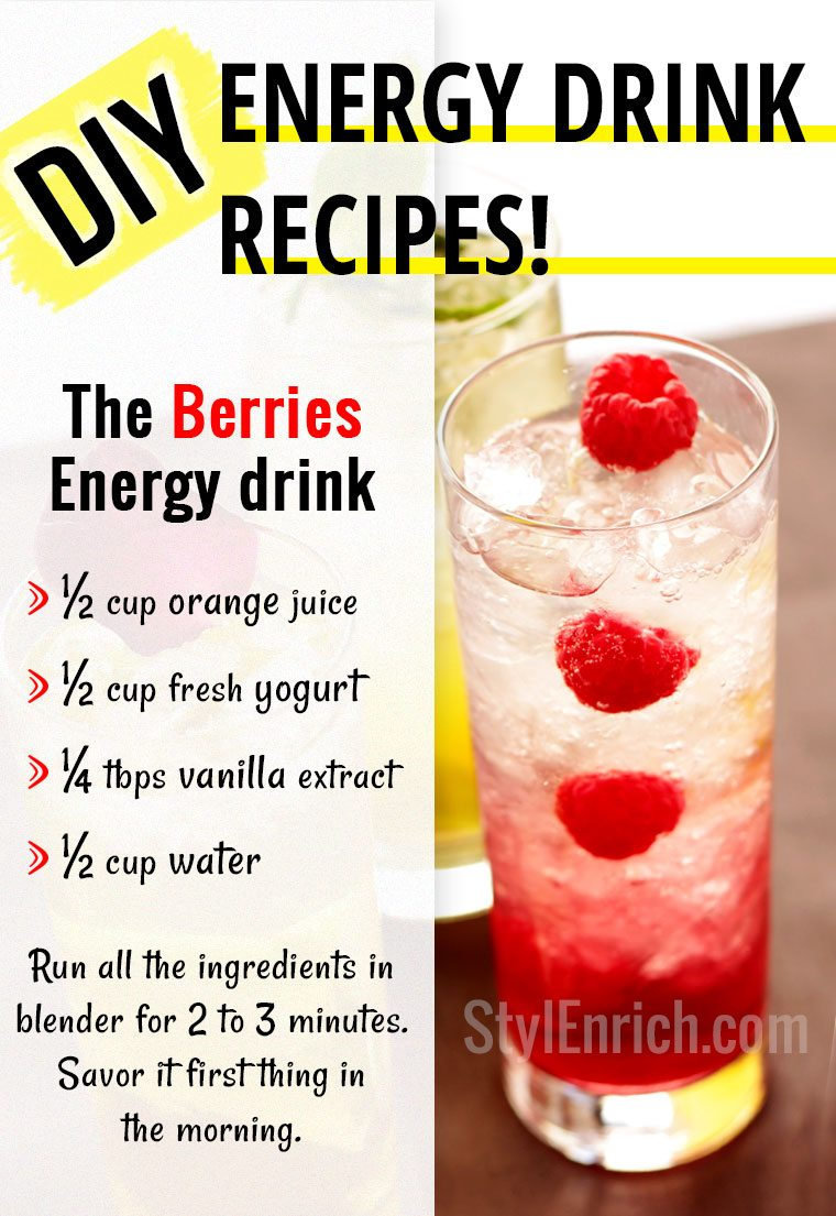 Healthy energy drinks recipes to make energy boosting for Tea and liquor recipes
