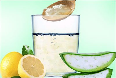 Lemon and aloe vera