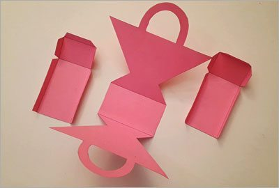 Pink basket diy craft