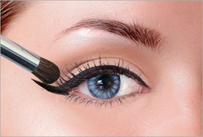 Retouch base shadow and concealer