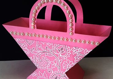 Beautiful Paper Basket for Christmas Gifts