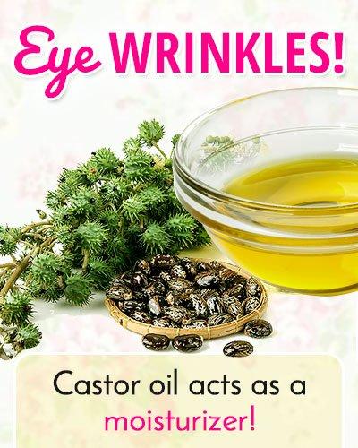 Castor Oil to Get Rid of Under Eye Wrinkles