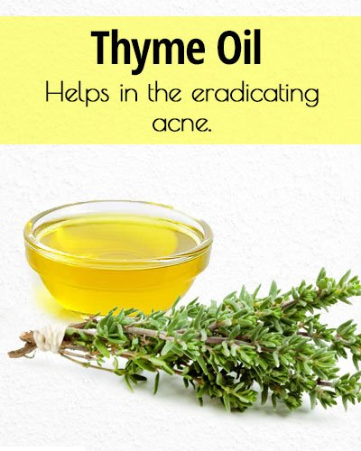 Thyme Oil for Acne Treatment