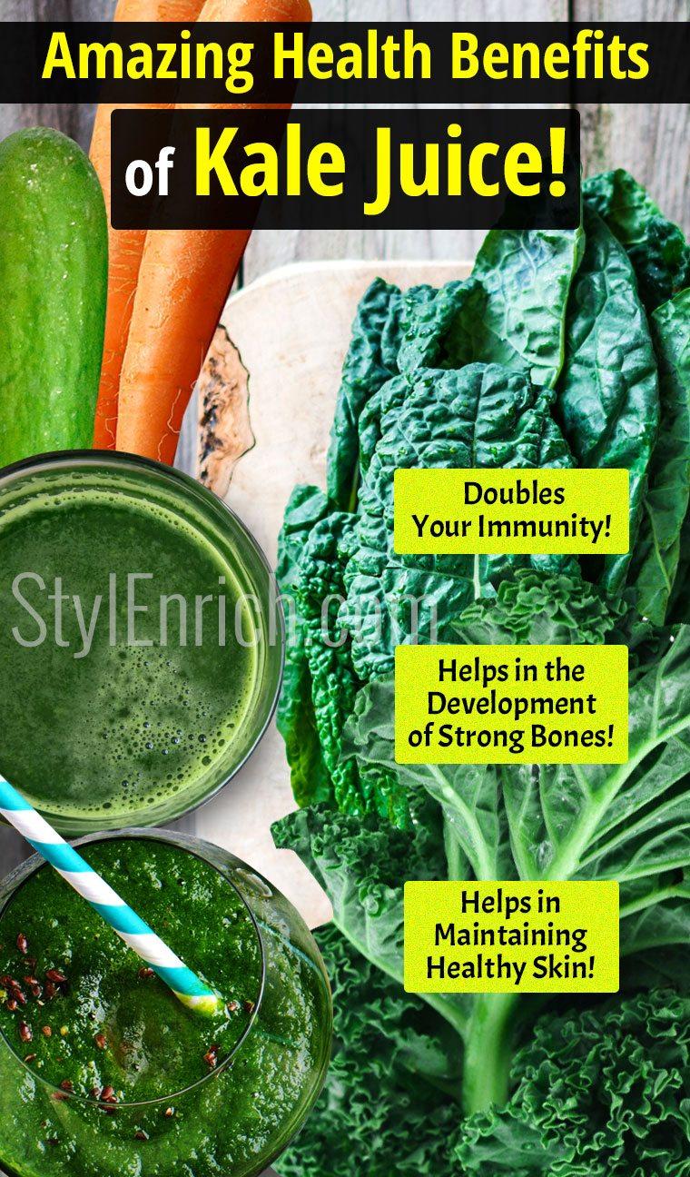 Kale Juice Recipe & amazing health benefits