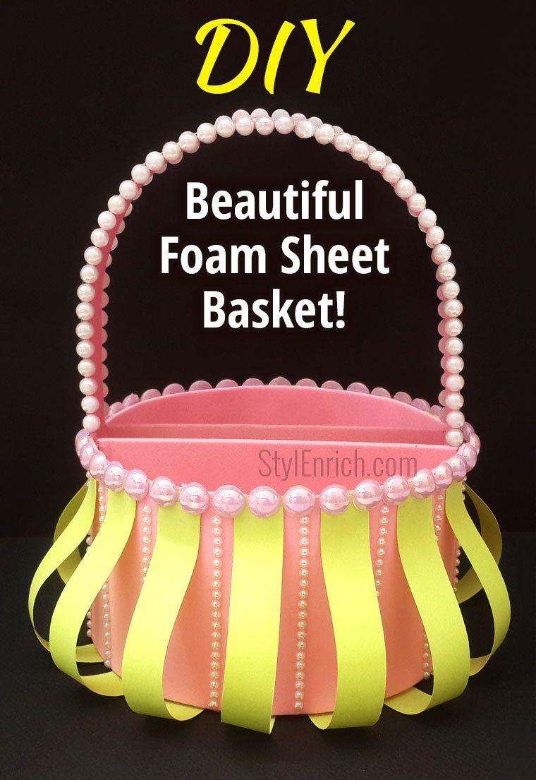 Foam sheet DIY Christmas Gift basket