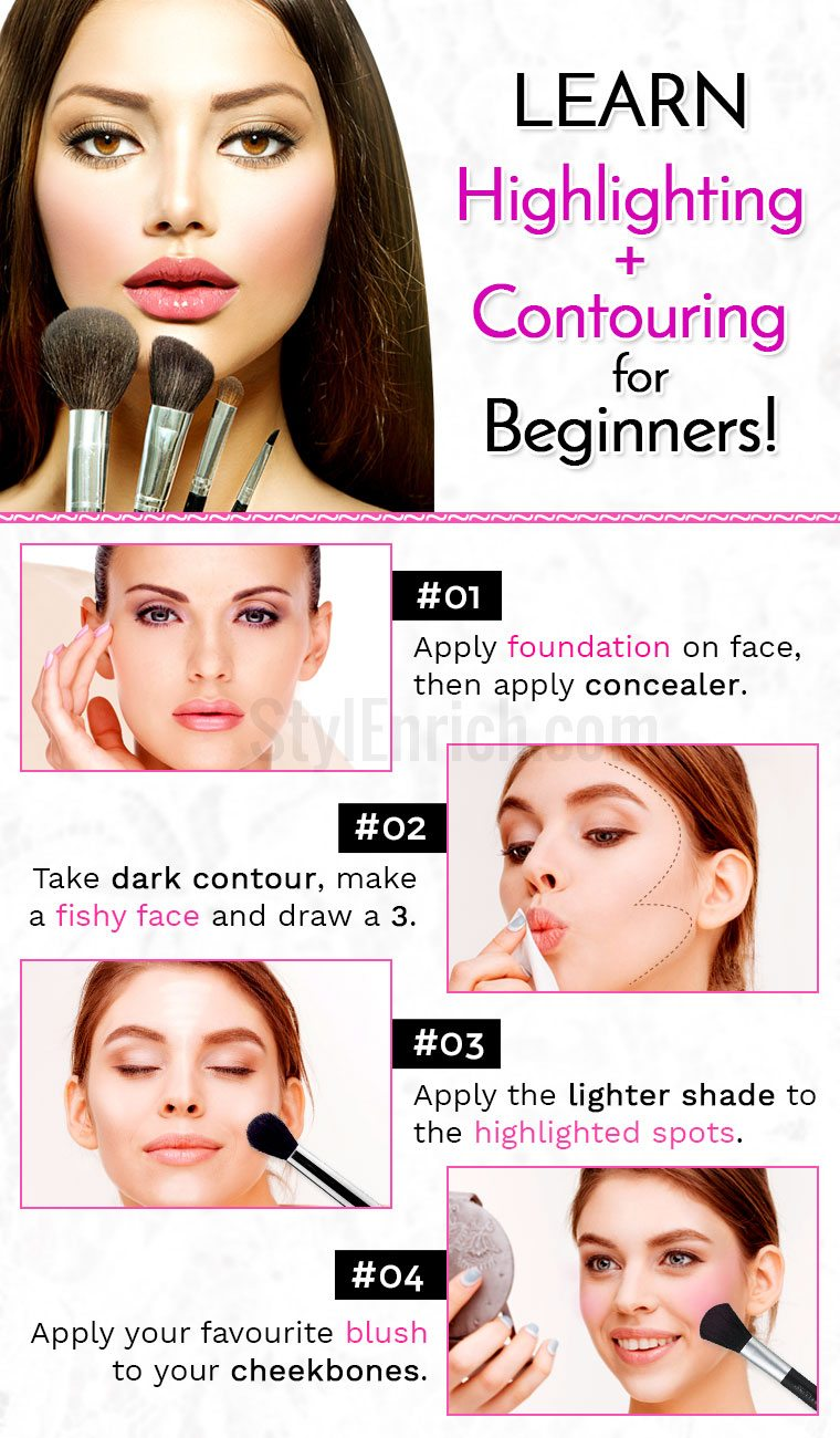 Highlighting, contouring for beginners
