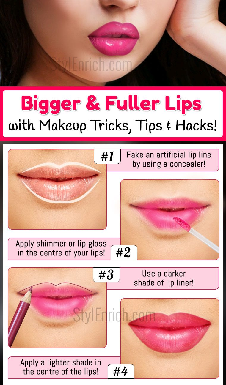 Fake Fuller Lips Instantly With TheseTricks
