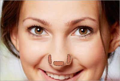 Step1 make your nose look shorter