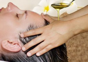 Hot oil treatment for hair