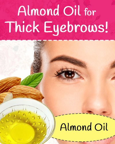 Almond Oil for Eyebrows