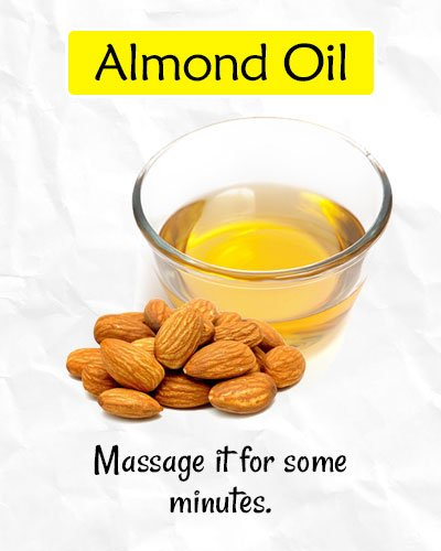 Almond Oil to Get Rid of Forehead Wrinkles