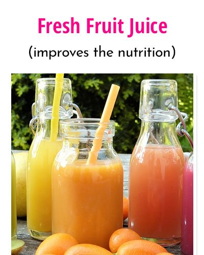 Fresh Fruit Juice With Soy