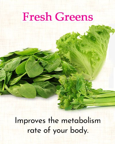 Fresh Greens to Get Rid of Side Fat
