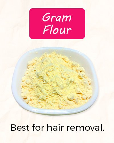 How To Get Rid of Facial Hair Using Gram Flour?