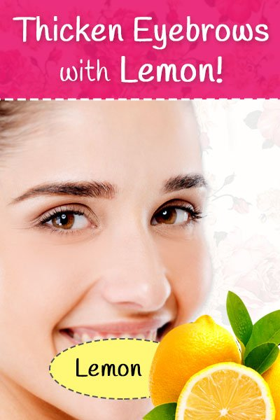 Lemon for Eyebrows