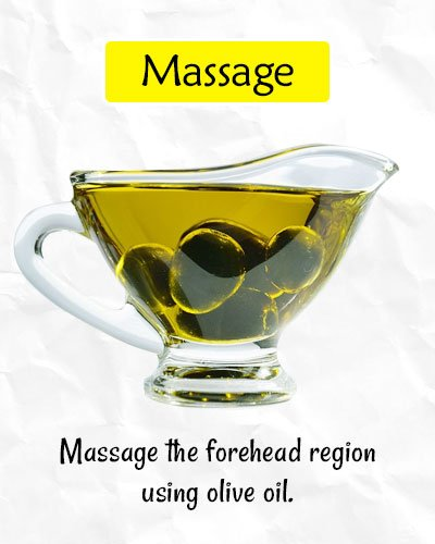Massage to Get Rid of Forehead Wrinkles