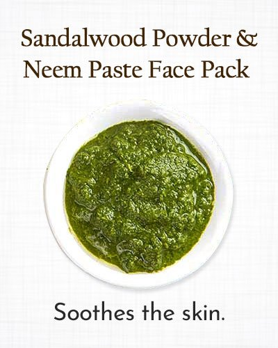 Turmeric, Sandalwood, and Neem Paste Face Pack